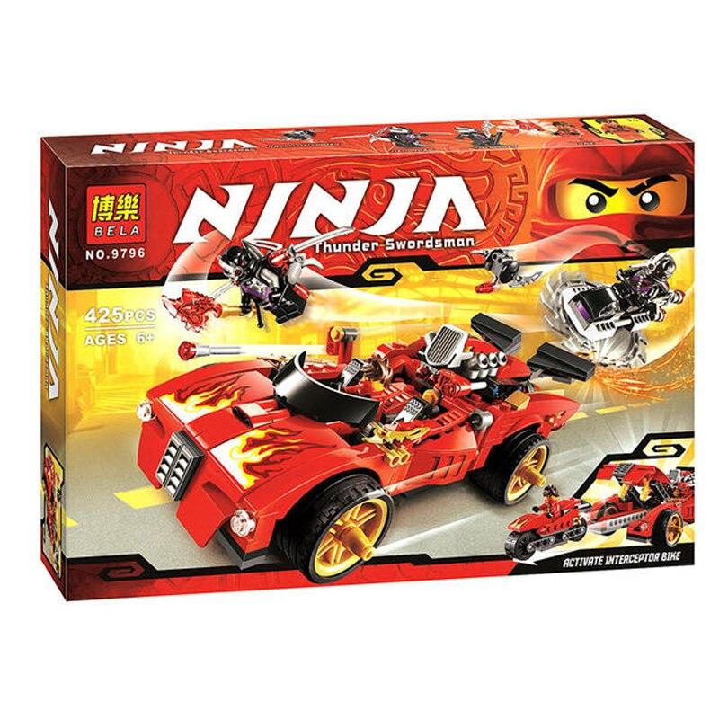 9796 425pcs car block X-1 Ninja Charger model Building Blocks toys Ninjagoed Bricks blockset compatiable with brand