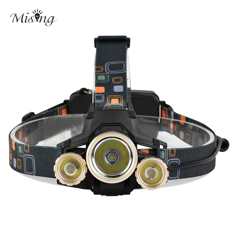 MISING T6 LED 4 Modes Rechargeable Headlamp Outdoor Headlight Waterproof Flashlight Led Flash Head Lamp Charging Torch Lantern