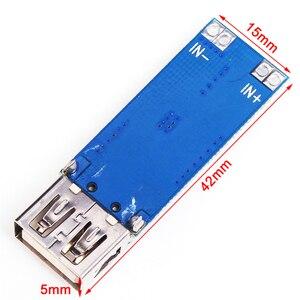 Image 4 - כוח בנק Boost ממיר מטען מודול DC DC 2.5 V 5.5 V כדי 5V 2A שלב עד לוח USB רכב נייד