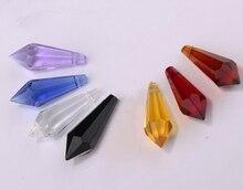 300 pcs gemengde kleur 38mm crystal ijspegel prisma U drop hanger klant kan kiezen speciale kleuren