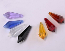 300pcs mixed color 38mm crystal icicle prism U drop pendant customer can choose special colors