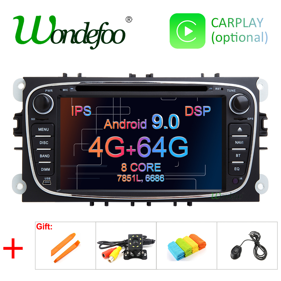 DSP IPS SCREEN 4G 64G android 9 0 2 din Car multimedia Player for FORD FOCUS
