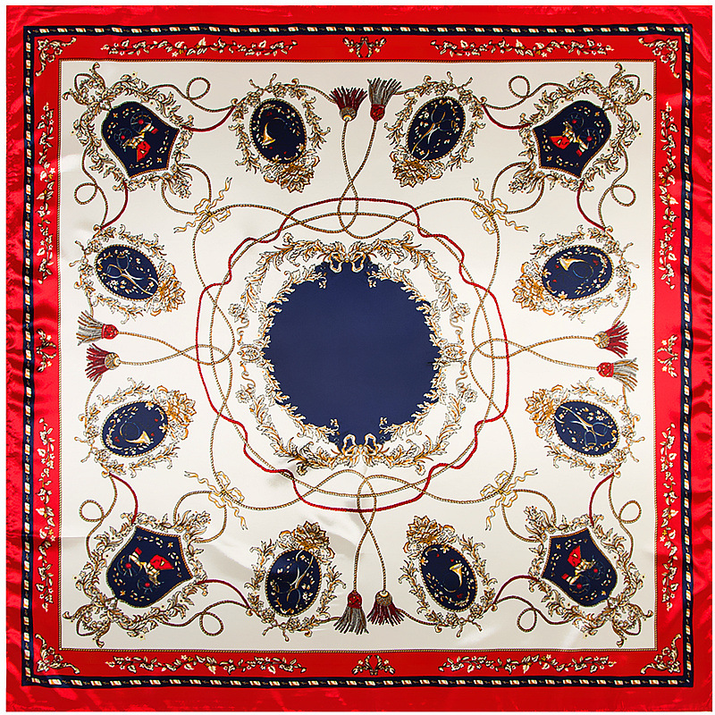 Free shipping 90*90cm Square silk   scarf   women big size rope tassels High Quality Brand Shawl hijab ladies   scarves     wraps