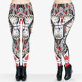 Funny Leggings Digital 3D Poker Card Of Queen'S Hearts Seam Print Polyester Women Girl Playing Leggings For Fashion Dress