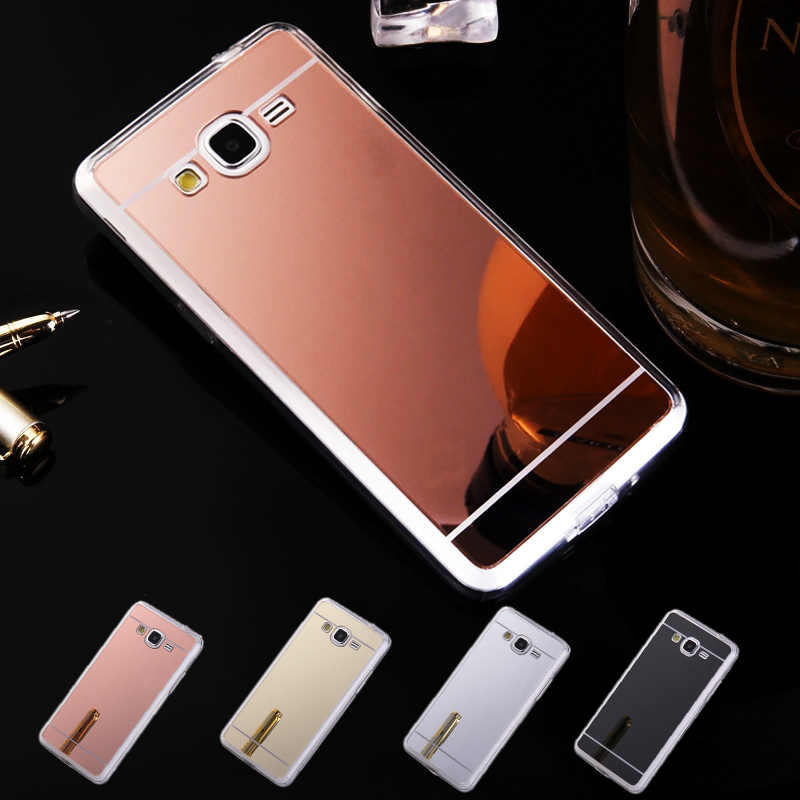 Phone Case For Samsung Galaxy J2 Prime Electroplating Mirror TPU Mobile Phone Cover Cases For Galaxy J2 Prime G530 G532F image