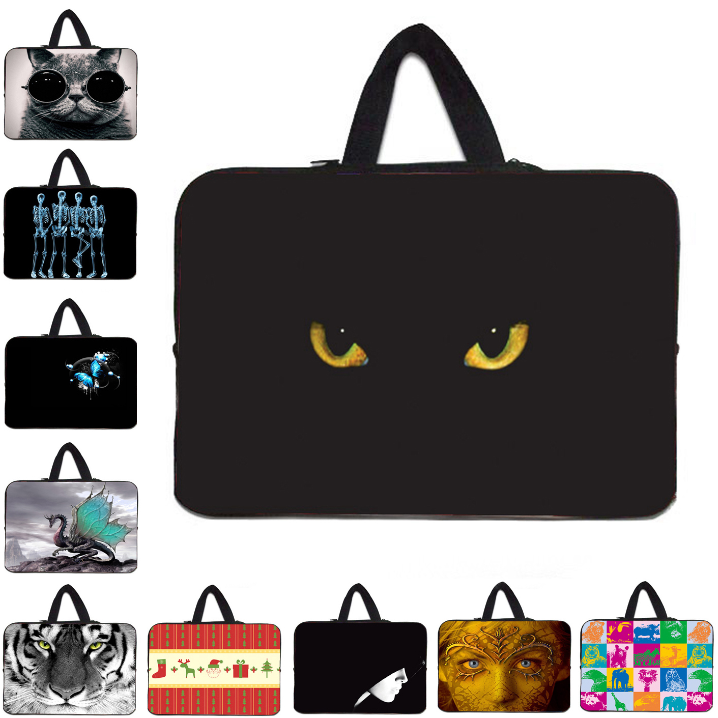 Sleeve Computer Zipper Pouch Bag 14 Inch 13 12 15 10 17 Soft Laptop Cases For Lenovo Dell Sony Chuwi Hi12 10 Chromebook Bag 15.6