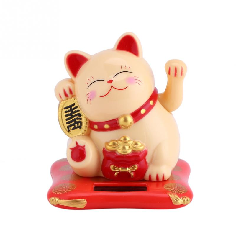 Creative Shaking Hands Lucky Cat Checkout Counter Decoration Cute Waving Cat Ora