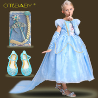 Children S Anna Elsa Princess Dress Luxurious Birthday Dresses For Girls Baby Snow Queen Cosplay Costumes