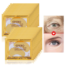 5Packs Gold Eye Mask Moisturizer Eye Patches Dark Circles Anti Wrinkle Sheet Masks Crystal Collagen Mask Patch for the Eyes Care 10 16pcs collagen eye mask pad anti wrinkle eye patches for the eyes dark circles remover sheet masks face mask serum