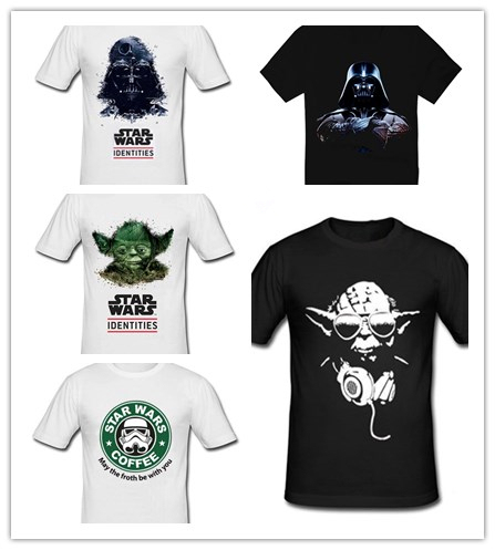 star wars darth vader male 100% cotton short-sleeve T-shirt 2014 Hot band Products $14.5 Free Shipping