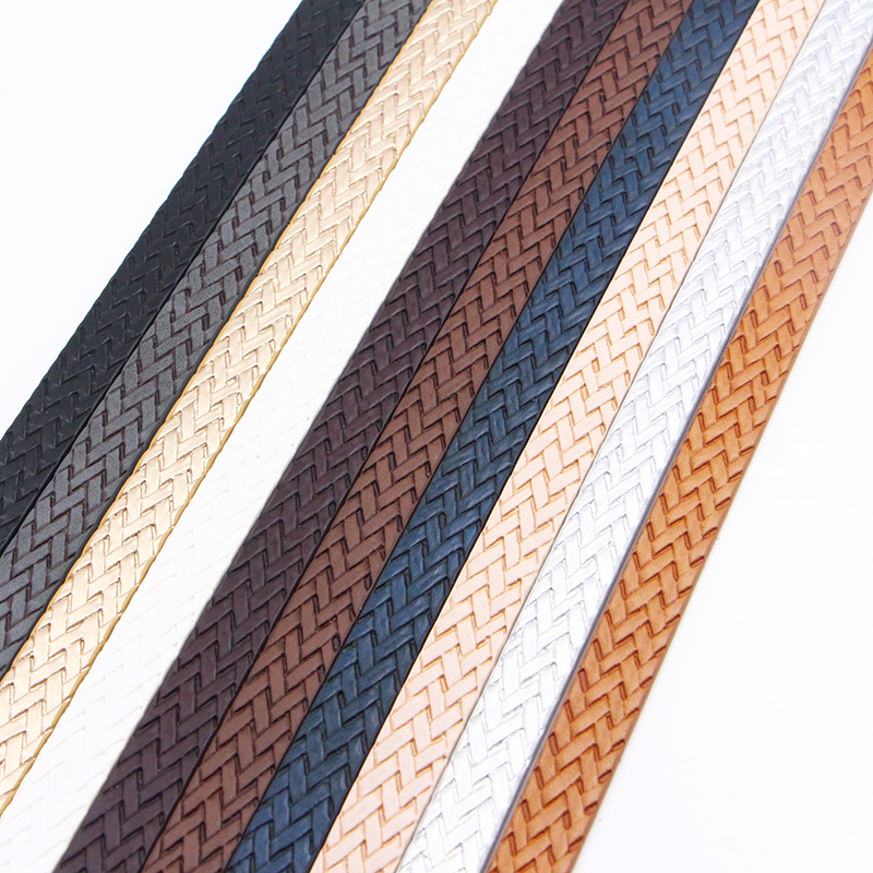 XCHARMS 10MM Flat PU Leather Cord Braid Rope Diy Jewelry Findings Accessories Fashion Jewelry Making Materials For Bracelets