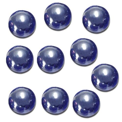 10 pièces billes 16mm verre billes Knicker boules de verre décoration couleur pépites jouet