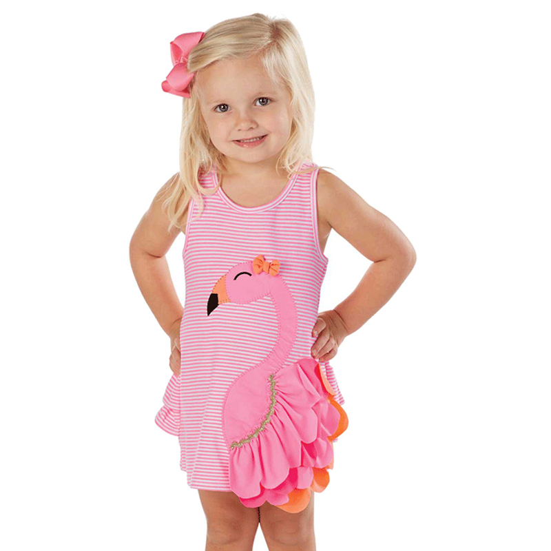 Baby Girl Swan Dress Infant Bebe Newborn Toddler Pink Striped Cartoon Flamingo Animal Dress Children Girls Clothes Baby Girl Swan Dress Infant Bebe Newborn Toddler Pink Striped Cartoon Flamingo Animal Dress Children Girls Clothes