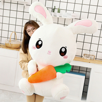 Cute Plush Toy Rabbit Pillow Doll White Rabbit Doll Kids Birthday Present Gifts And Valentine Gift