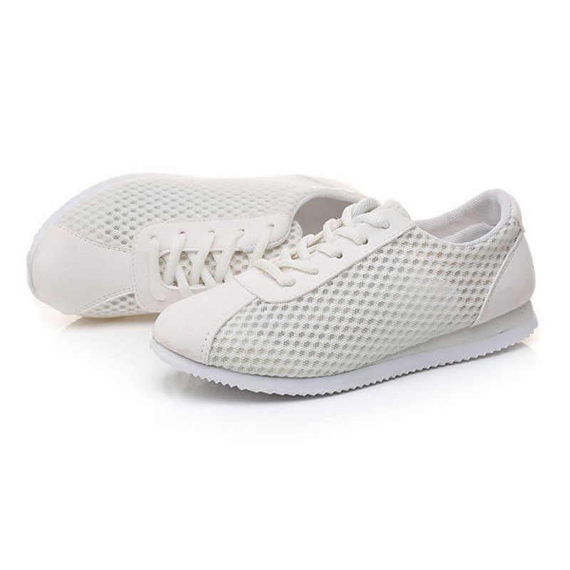2018 Designer Zomer Vrouwen Casual Schoenen Vrouwelijke Ademende Zapatillas Schoenen voor vrouwen Zachte Canvas Schoenen Wilde Flats