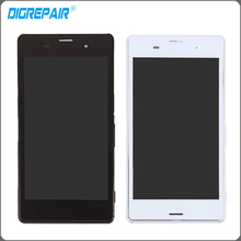 "5.0"" For Sony Xperia Z3 L55t D6603 D6643 D6653 LCD Display Touch Screen Digitizer Assembly with Bezel Frame Free Shipping"