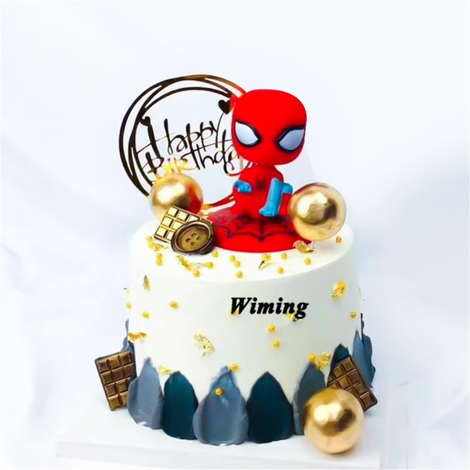 Fine Spiderman Birthday Cake Topper Children T Kids Baby Boy Toys Personalised Birthday Cards Paralily Jamesorg