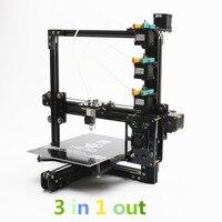 HE3D новое обновление EI3 триколор DIY 3D наборы для принтеров, 3 в 1 из экструдера, большой размер печати 200*280*200 мм