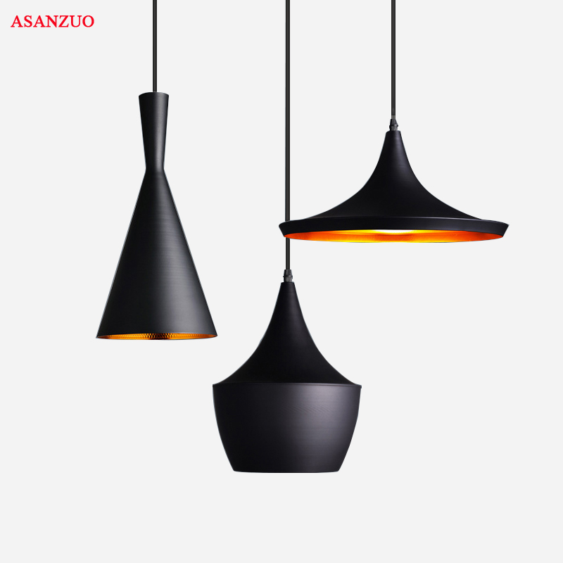 3pcs/Set Black White Gold Red Wood Pendant Lamp England Beat Musical Instrument ABC Hanging Pendant Light Lamp Dining Room Light