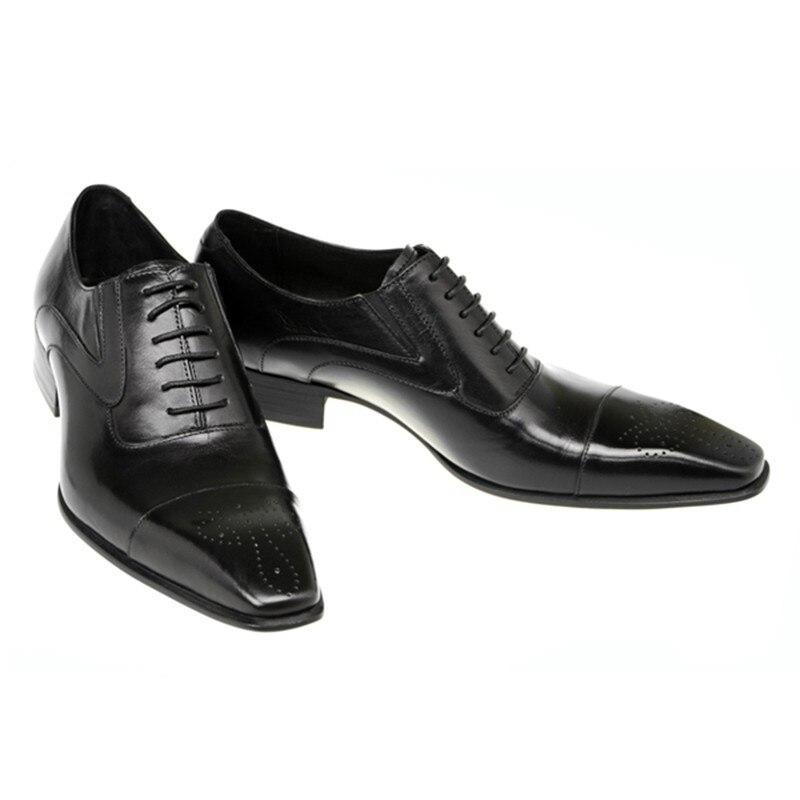 Negócios Da Vestem Moda Brown Preto Genuíno Sapatos De Shoes Ponta Brogue Zapatos 2019 Se Couro Italiana Calçado Asa Homens black Casamento Oxford Hombre 07xp5q6wnn