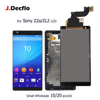 10/20 pcs/lot For Sony Xperia Z2a D6563 ZL2 IPS LCD Display Touch Screen With Frame Digitizer Assembly Replacement Part Original