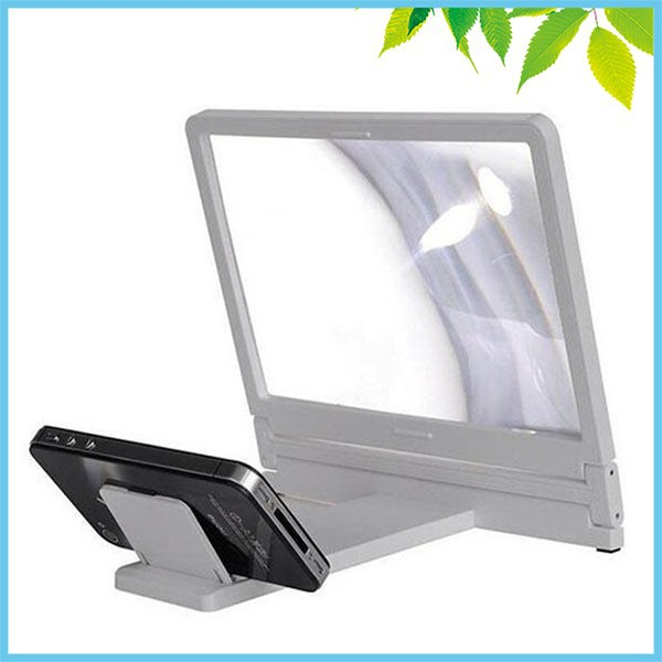 3X Mobile Phone Screen Magnifier HD Fresnel Lens Expander Enlarge Magnifier With Holder Stand for Mobile Watching TV 4