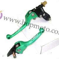 Pit Bike ASV Aluminum Alloy Folding Clutch And Brake Lever Spare Parts Green Colour