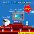 Рентабельным Wecon 7 дюймов hmi с canbus и 14 цифрового Ввода/Вывода плк