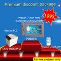Hmi Wecon 7 polegada de custo-benefício com canbus e 14 digital I/O plc