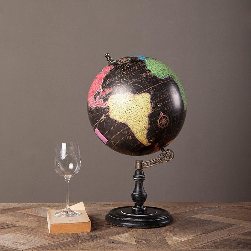 Piédestal Anglais édition En Bois décoratif monde globe vintage globe Géographie globe terrestre figurines pour la maison