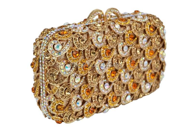 Bagaj ve Çantalar'ten Üstten Saplı Çanta'de LaiSC Kırmızı debriyaj akşam çanta lüks kristal Debriyaj bayanlar çanta balo poşet kadınlar akşam çanta bling el çantası zinciri SC100'da  Grup 3