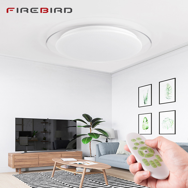25 Living Room Lighting Ideas For Right Illumination: Modern LED Ceiling Lights Dimmable Remote Control 25W