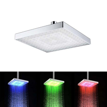 Light Shower Head Temperature Control Colorful Changing Bathroom 2 Model Home