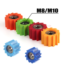 Free Shipping 8mm 10mm Drive Chain Pulley Roller Slider Tensioner Wheel Guide Fit Dirt Bike Motorcycle Quad ATV CRF