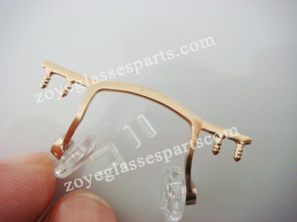 eyewear bridge replacement for rimless frame,gold color eyeglass ...