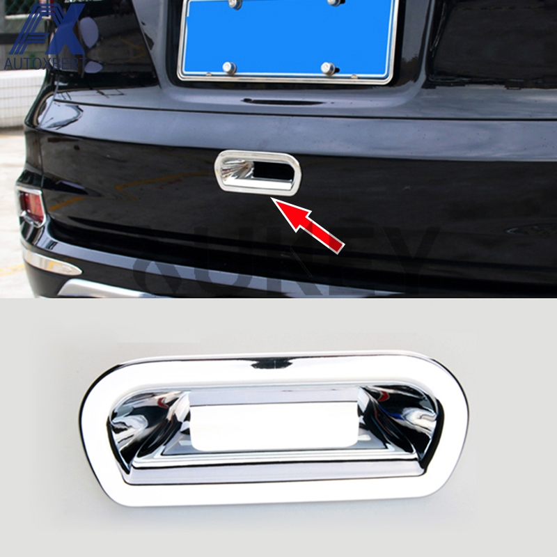 Chrome Trim Trunk Rear Door Handle Bowl For Ford Kuga Escape MK2 2013 2014 15 16