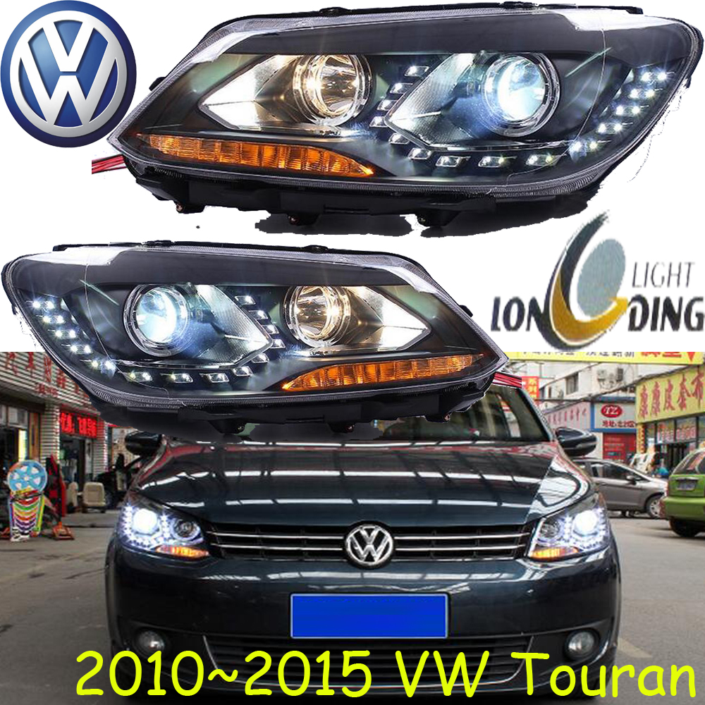 car-styling! Touran headlight,2011~2016,Free ship!chrome,Touran fog light,chrome,LED,Phaeton,Scirocco