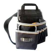 Hoomall Electrician Tool Kit Thick Black Waterproof Wearable Oxford Canvas Multifunction Waist Belt Bag Electrician Tool Bag
