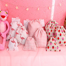 2318333d6 Cute Pink Drawstring Cosmetic Bag Women Portable Travel Make Up Case  Organizer Toiletry Bag Wash Case Girls Sweet Storage Pouch
