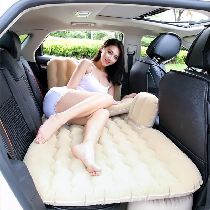 Car Inflatable Bed Car Mattress Rear Row Travel Bed Car SUV Rear Seat Air Bed Inflatable Mattress With Car Electric Pump|Car Travel Bed| |  - title=