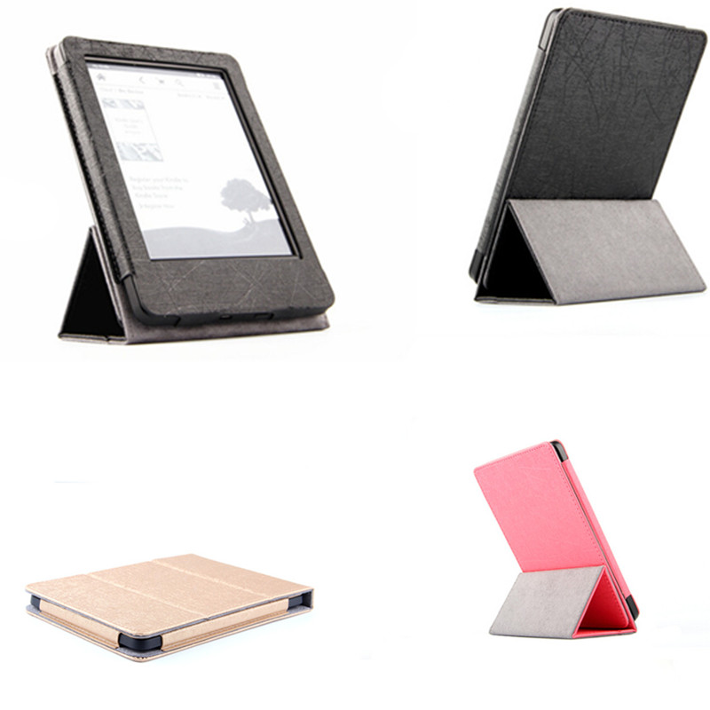 SD PU Leather Stand Case For Amazon New Kindle 2014 7th Generation eBooks Ultra Slim Light Weight Magnetic Cover