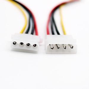 Image 5 - 1pc 50 cm/1.5ft IDE 4 פינים Molex זכר כוח IDE 4 פינים Molex נקבה שקע הארכת מתאם מחבר כבל