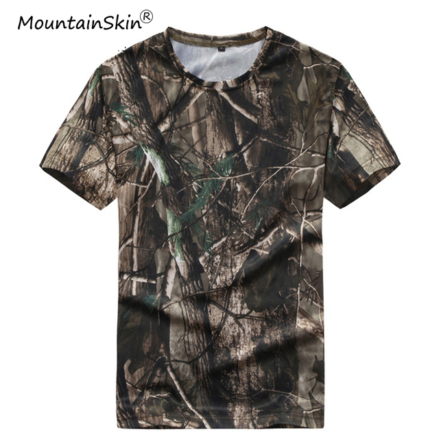 b09701d6 Mountainskin Men's Summer Fitness Quick Dry T-Shirts Military Tactical  Short Sleeves Army Breathable T-Shirt Male Brand LA666