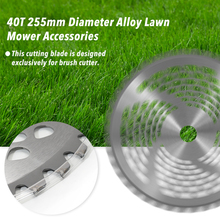 1pc Grass Trimmer Mower Brush Cutter Lawn Accessories Alloy 40T Blade 255mm Diameter Garden Power Tools