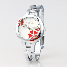 Hot Sales Kimio Fashion Brand Dress Ladies Bracelet Watches for Women Diamond Jewel Lucky Clover Stainless