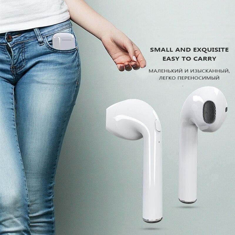 Kapcice i7s TWS Drahtlose Bluetooth Ohrhörer In ear kopfhörer Musik Ohrhörer Set Stereo Headset für iphone X 6 7 8 Samsung Xiaomi retailBox - 2