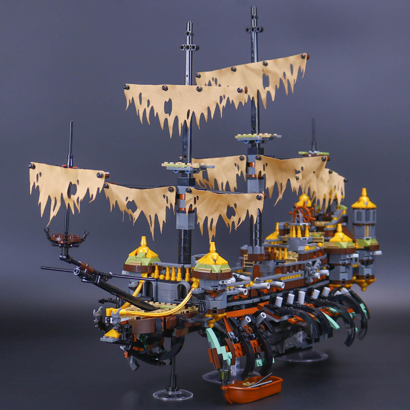 DHL 16042 Pirate Ship Series The Slient Mary Set Compatible With 71042 Set Children Building Blocks
