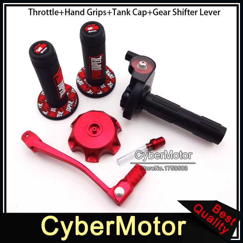 Twist Throttle Handle Grips Tank Cap Cover Red Folding Gear Shifter Lever For Chinese Pit Dirt Bike CRF 50 70 SSR Thumpstar SSR рюкзак think tank shape shifter тонкий