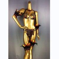 Бесплатная доставка Новый дизайн Высший сорт Для женщин танец живота Samba Carnivel RIO Crystal бюстгальтер костюм наряд танцовщица Танцы r костюм C017