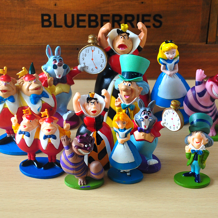 Shop For Cheap 6pcs/lot 5-6.5cm Alice In Wonderland Pvc Action Figure Cake Topper Set Alice On Stand Action Figure Toys Toys & Hobbies
